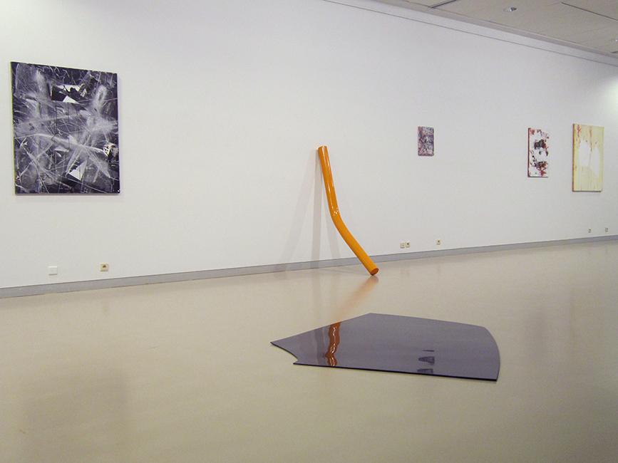 paintings Bart Vandevijvere, sculptures Henk Delabie, expo CC De Steiger, Menen, 2013