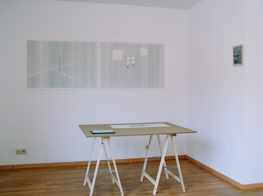 ' Linelab' (left: Kris Van Dessel / table: Bart Vandevijvere), Second Room, Brussel, 2007