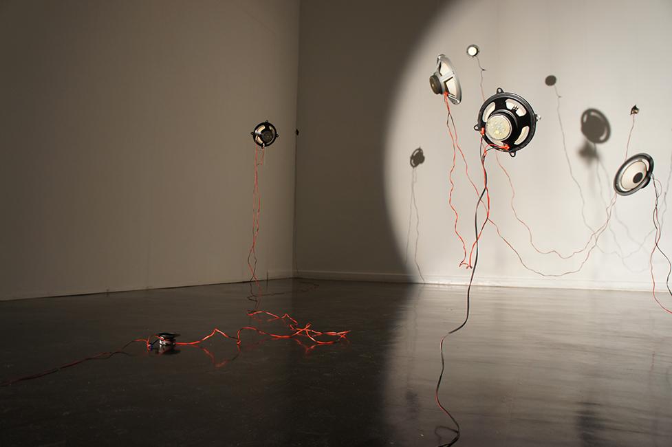 Sound project on tour: The Suitcase Exhibit, Centre d'Arts Plastiques et Visuels, Lille, 2015