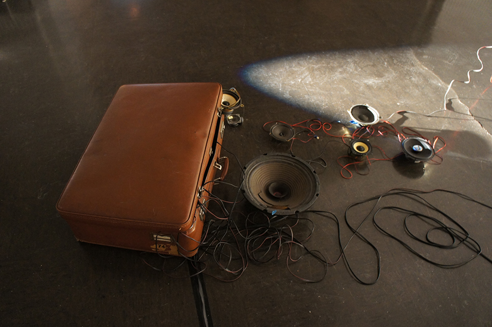 Sound project on tour: The Suitcase Exhibit, Centre d'Arts Plastiques et Visuels, Lille, 2015