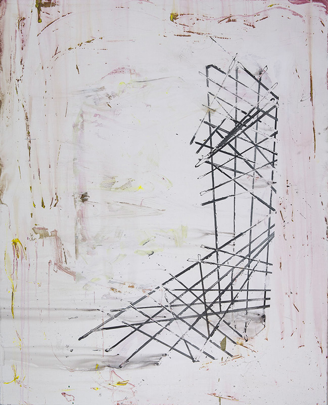 Lines for Joëlle Léandre, 2015, acrylic on canvas, 160x130cm