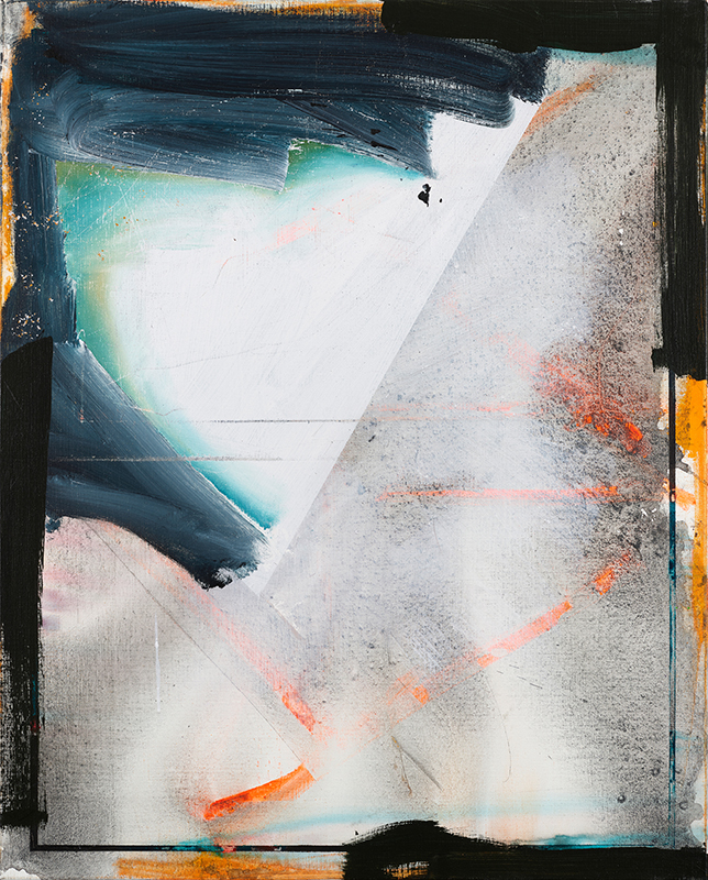 Too noisy fish around, 2020, acrylic on canvas, 100x80cm