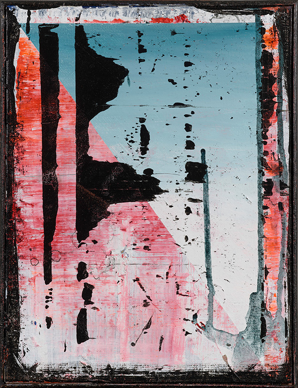 3. Small piece called Otis, 2020, acrylic on canvas, 31x25cm