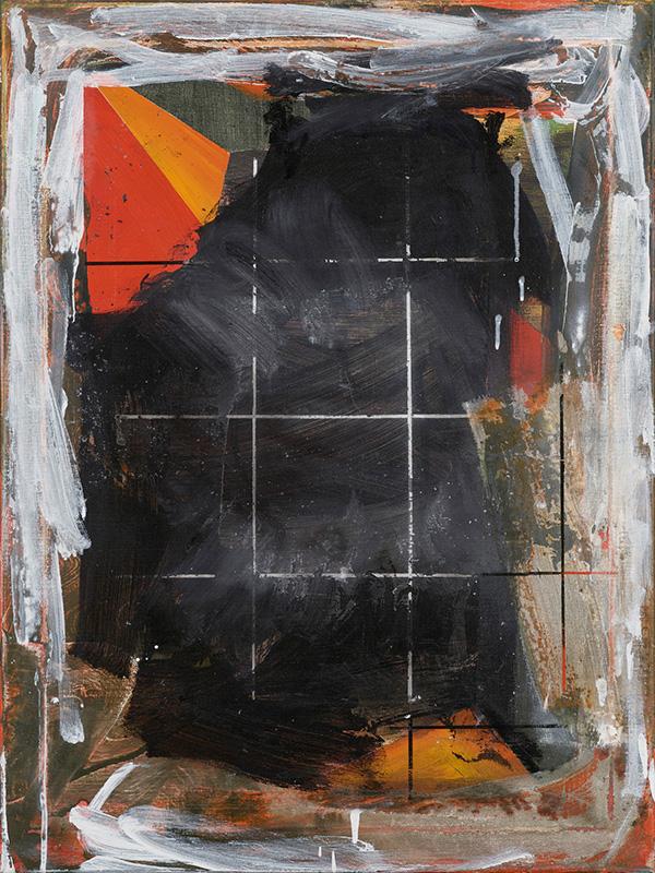 4. Forbidden to enter the yard, 2020, acrylic on canvas, 80x60cm